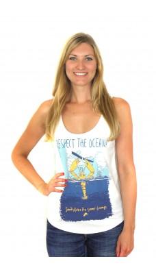 RESPECT THE OCEAN Beach Tanktop