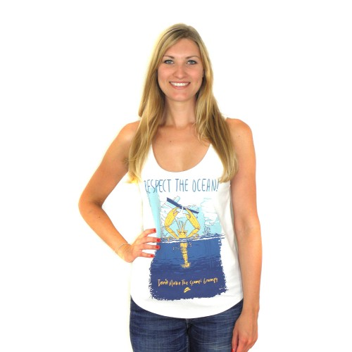 RESPECT THE OCEAN Beach Tanktop